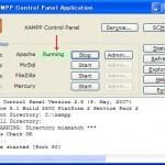 XAMPP起動画面2